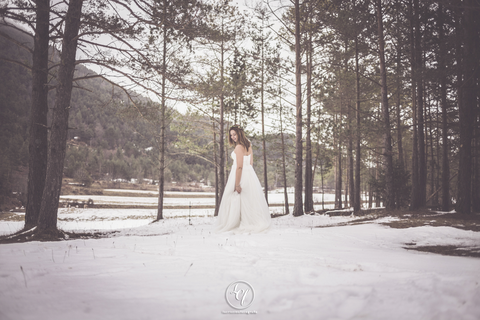 nieve, postboda, invierno, trash the dress, snow postboda barcel