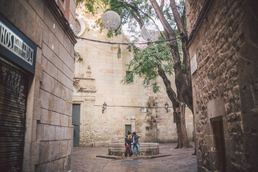fotógrafo barcelona :: fotógrafo de pareja :: fotógrafo de preboda :: fotógrafo romántico natural en Barcelona