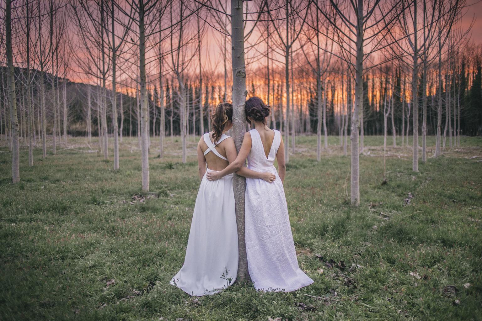 fotógrafos de boda barcelona :: sesión de boda :: sesión dboda :: shooting fashion :: vestidos de novia