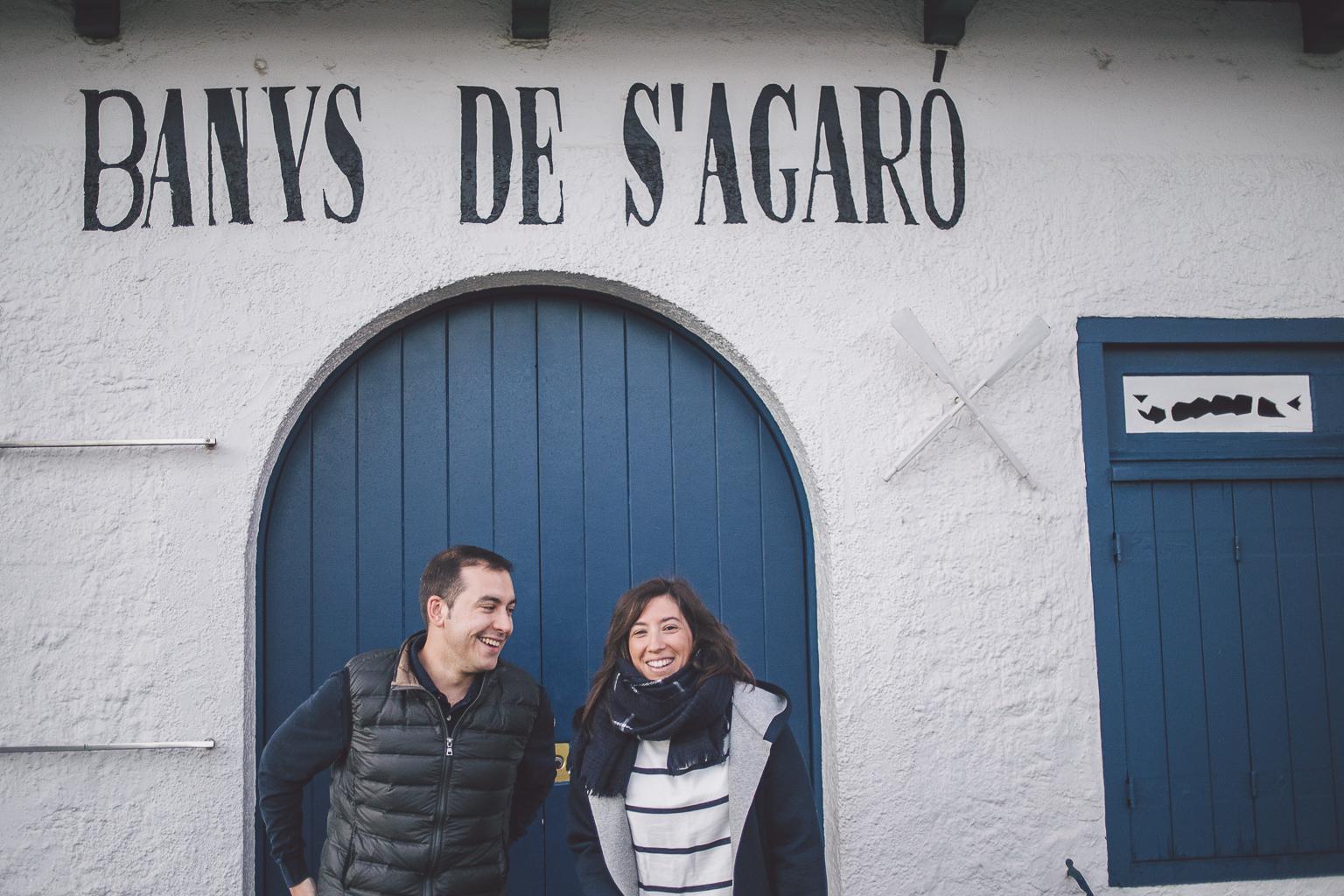 fotógrafo boda barcelona :: fotógrafo preboda S'Agaró :: reportaje amanecer en la playa :: fotógrafo de pareja