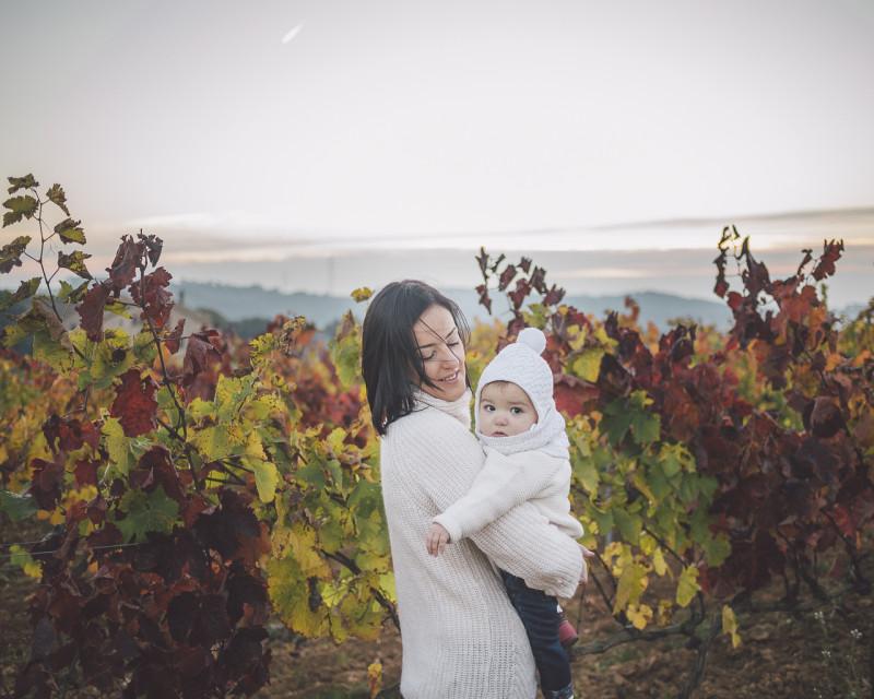 Fotógrafo familiar :: Amanecer entre viñas