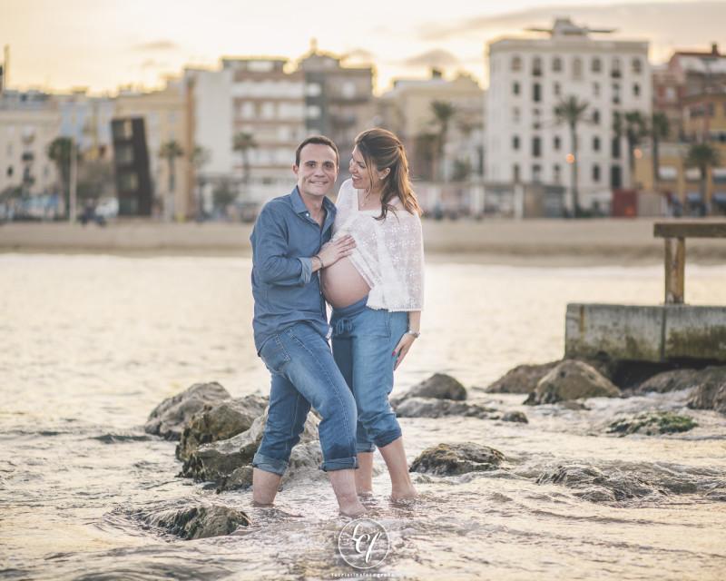 Fotógrafo de embarazo Barcelona :: Ciutadella y Barceloneta