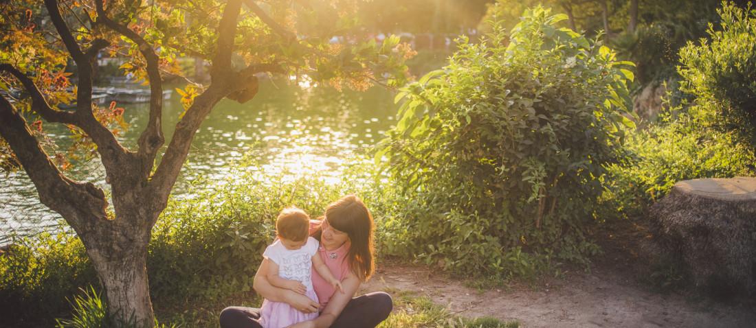 Fotógrafo de familia Barcelona :: Atardecer en el Parque de la Ciutadella
